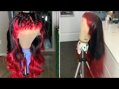 RED HAIR OMBRE TUTORIAL ALONZO ARNOLD INSPIRED PART 1 - WIGGINGS HAIR - 동영상