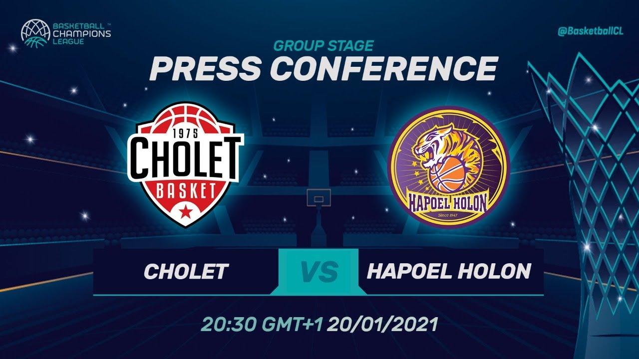 Cholet v Hapoel Unet-Credit Holon - Press Conference