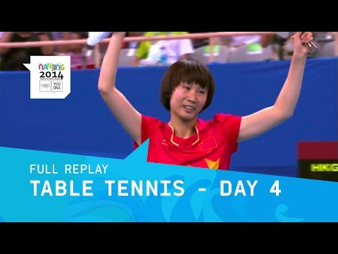 Table Tennis - Men & Women Singles Medal Matches | Full Replay | Nanjing 2014 Youth Olympic Games