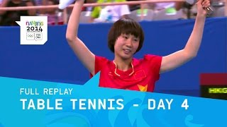 Table Tennis - Men & Women Singles Medal Matches   Full Replay   Nanjing 2014 Youth Olympic Games