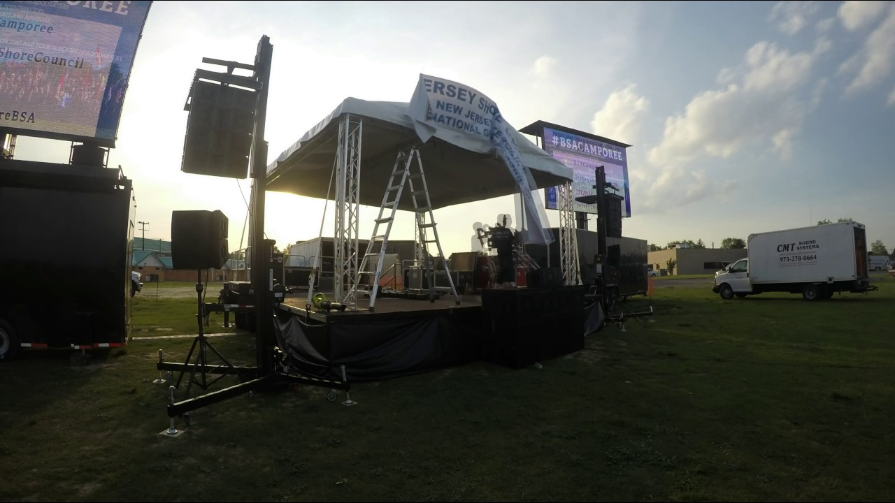 Mobile Stage Sound Lighting