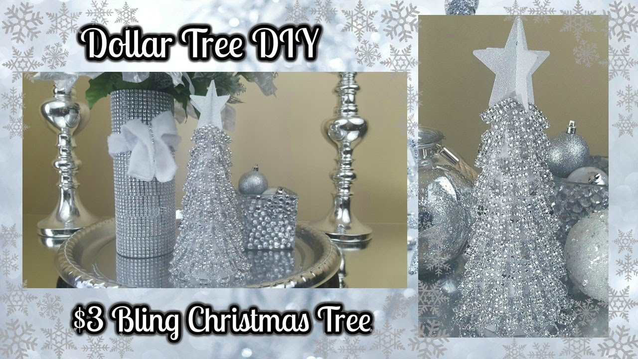 Dollar Tree Diy Blingy Christmas Tree 3 Easy Home Decor Craft Youtube