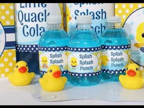 Rubber Duck Baby Shower Decorations