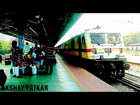 Classic entry for 22127 (ltt-kzj) Anandwan express with (lgd) wap7 #30306 to Thane station
