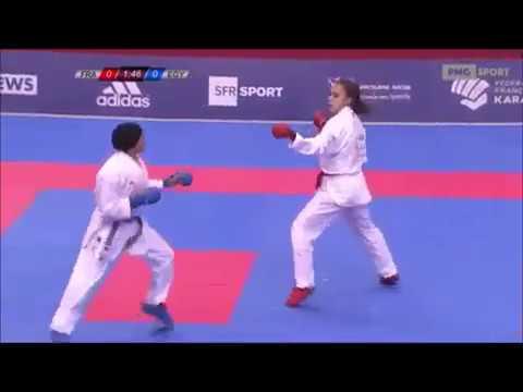 Aurore Bourcois Vs Radwa Sayed - Karate 1 World Premier League Paris 2018
