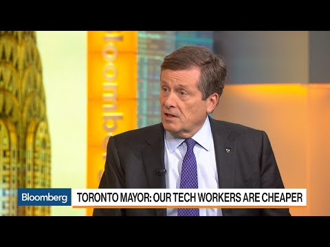 Toronto Mayor Says Amazon Bid Is Based on City's Talent