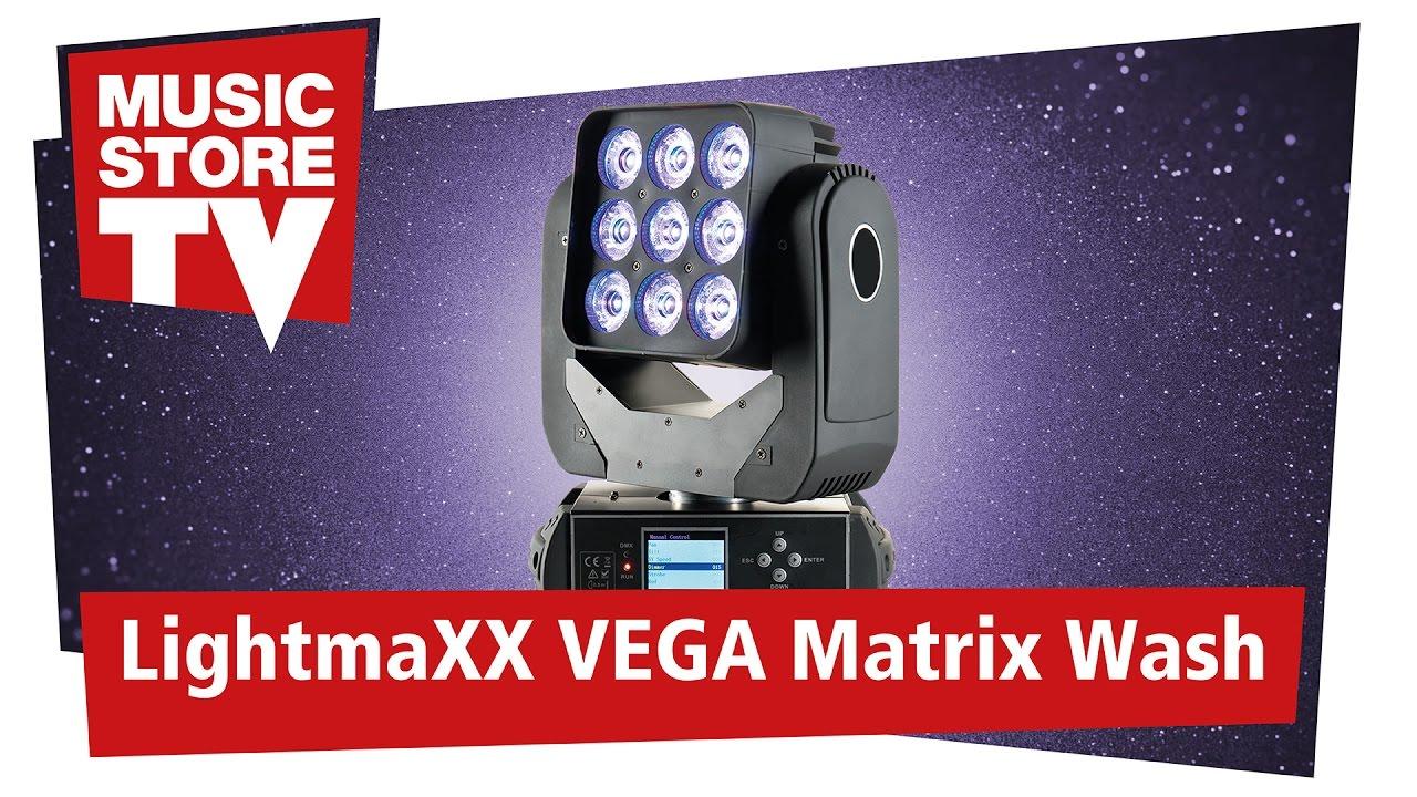 lightmaxx vega matrix wash led moving head youtube