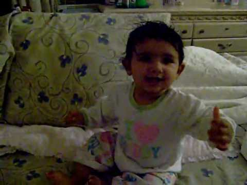 Baby Sayngel Playing @ Bed Time