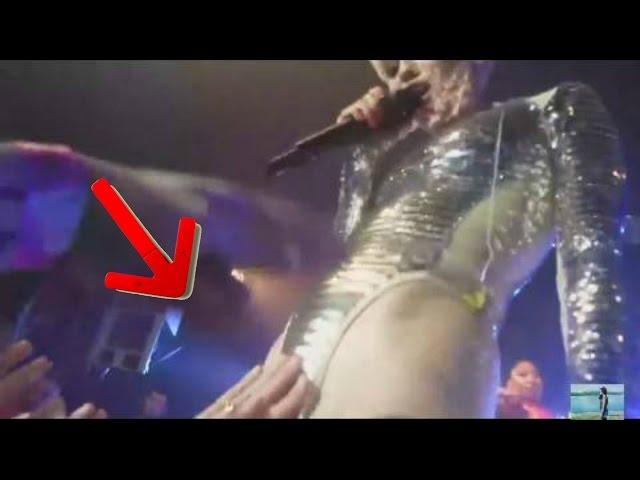 Miley Cyrus deja que sus fans toquen sus partes íntimas en un concierto