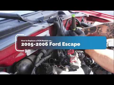 How to Replace PCM Module on 2005-2006 Ford Escape/Mercury Mariner/Mazda  Tribute