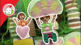 Playmobil Familie Hauser im Süßigkeiten Dschungel - Geschichte für Kinder - Film deutsch