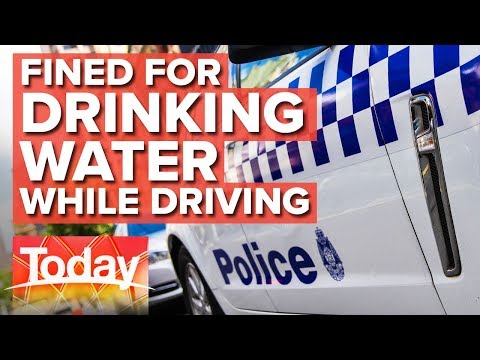QLD Man Fined For Drinking Water While Driving | Today Show Australia