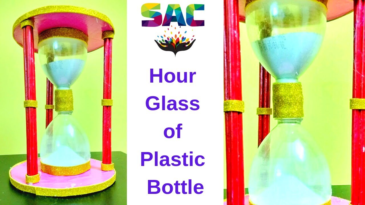 Diy hour glass of plastic bottle best out of waste for Making glasses from bottles