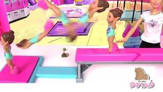 Барби Тренер. САЛЬТО! Barbie Flippin Fun Gymnast Кукла Барби Мультик. Играем в Куклы Барби