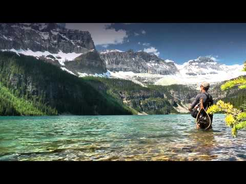 No network coverage: Fishing in Banff National Park, Alberta, Canada