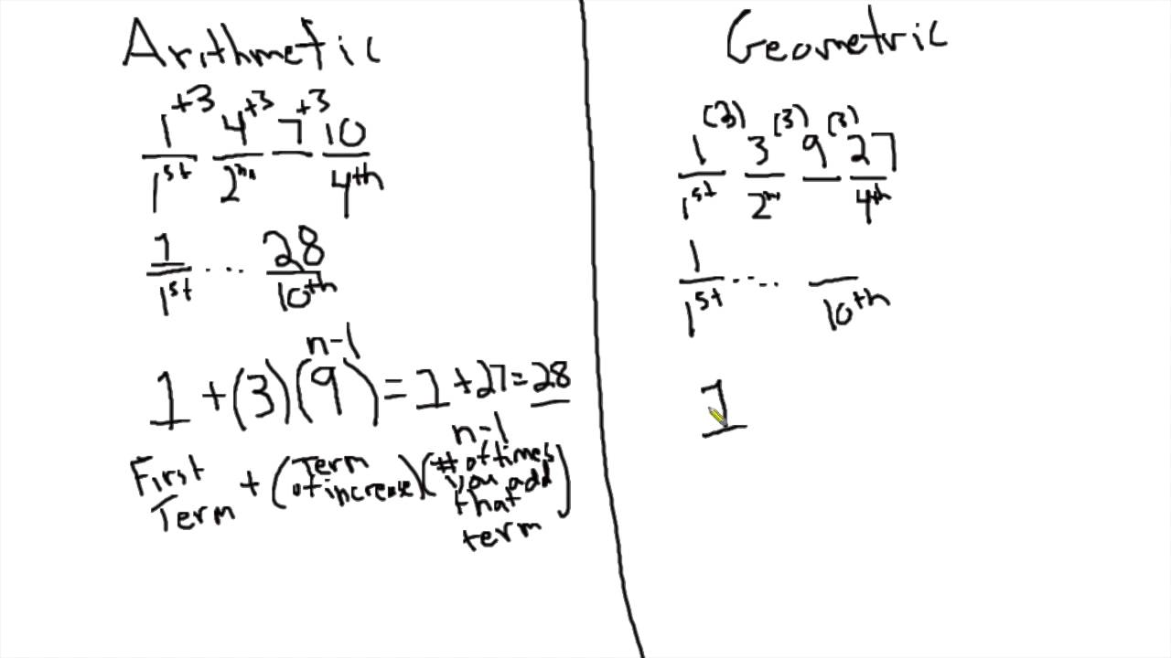 Arithmetic And Geometric Sequences On The Sat And Act Youtube