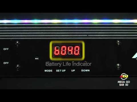 American DJ Mega GO Bar 50 (battery/power operated)
