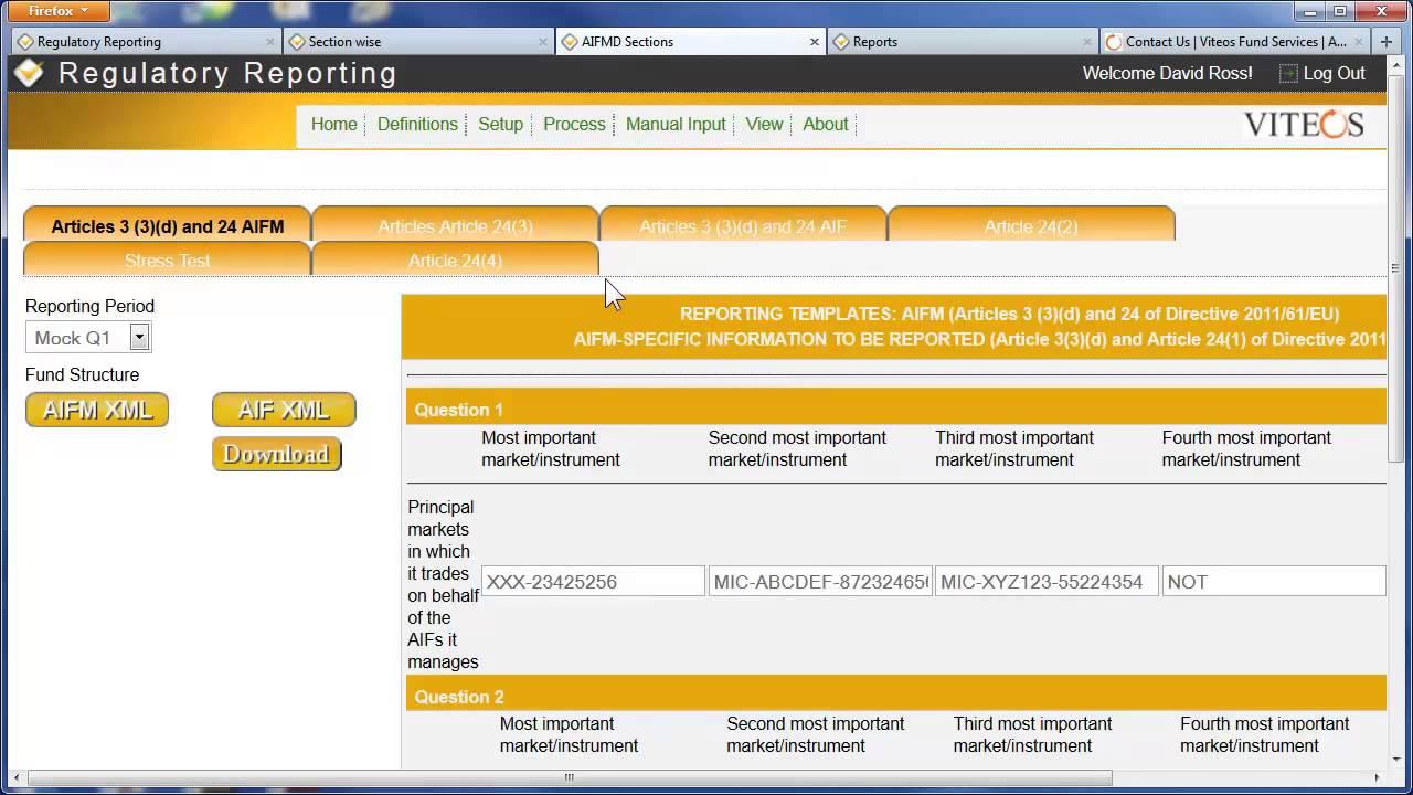 Regulatory Reporting Platform Solution for AIFMD, Form PF, CPO-PQR ...