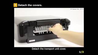 PIXMA MG7720: Removing a jammed paper from cassette 1