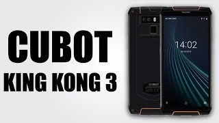 CUBOT King Kong 3 4G Phablet - 5.5 inch HD+ / Android 8.1 / 64GB ROM / 6000mAh / IP68 Waterproof