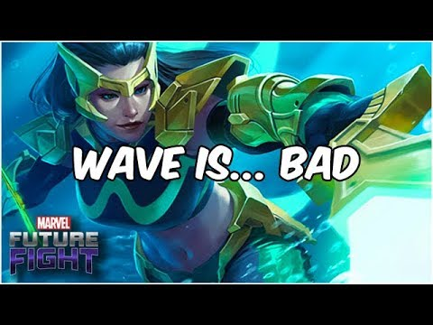 WAVE T2 MAX BUILD & GAMEPLAY! NETMARBLE PLEASE BUFF! - Marvel Future Fight