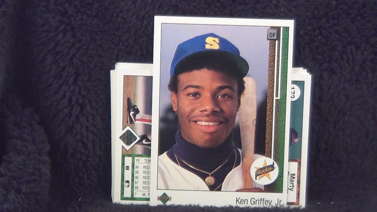 1989 Upper Deck Baseball Trading Cards Packs 3 4 Opening Griffey Rookie