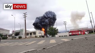 Azerbaijan claims second city has been attacked
