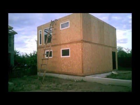видео: Дом из сип панелей 7×7м
