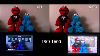 Canon 6D vs Canon 600D Low Light Video Test ISO