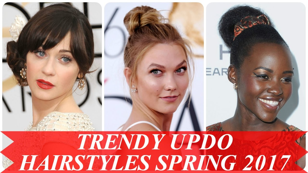 Trendy Updo Hairstyles Spring 2017 Youtube
