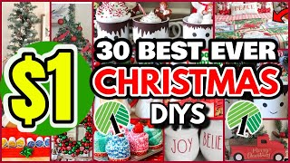 30 DOLLAR TREE CHRISTMAS DIYS that will leave you SHOCKED this 2021┃GORGEOUS $1 Home Decor IDEAS