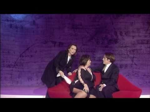 Hugh Grant kisses Dawn French  Classic Comic Relief