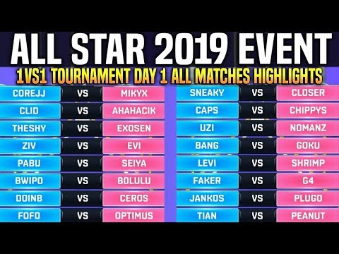 1vs1 Tournament All Matches All Star 2019 Day 1 - LOL All Star Event 2019 Day 1