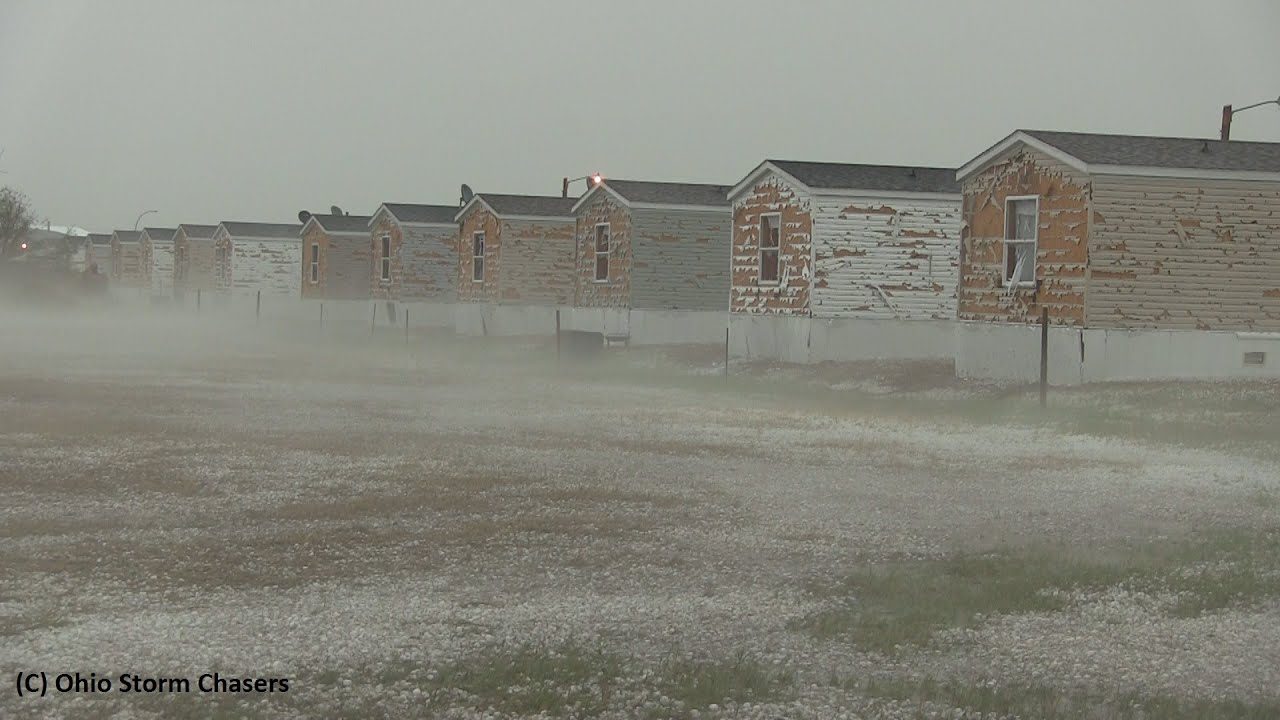Severe Hail Damage Killdeer North Dakota July 10th 2016 Youtube