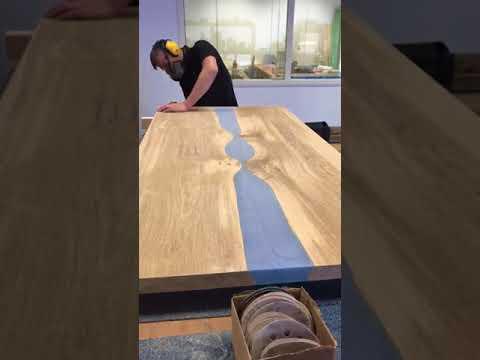 Resin table sanding