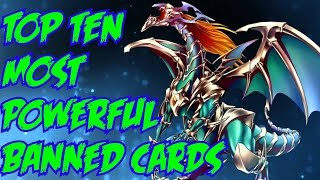 TOP 10 MOST POWERFUL BANNED YU-GI-OH CARDS