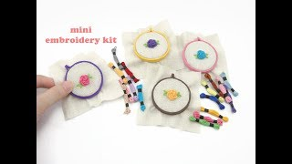 DIY Miniature Doll Mini Embroidery Kit