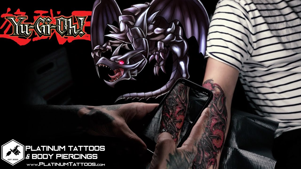 Yu Gi Oh Red Eyes Black Dragon Tattoo Platinum Tattoos Youtube