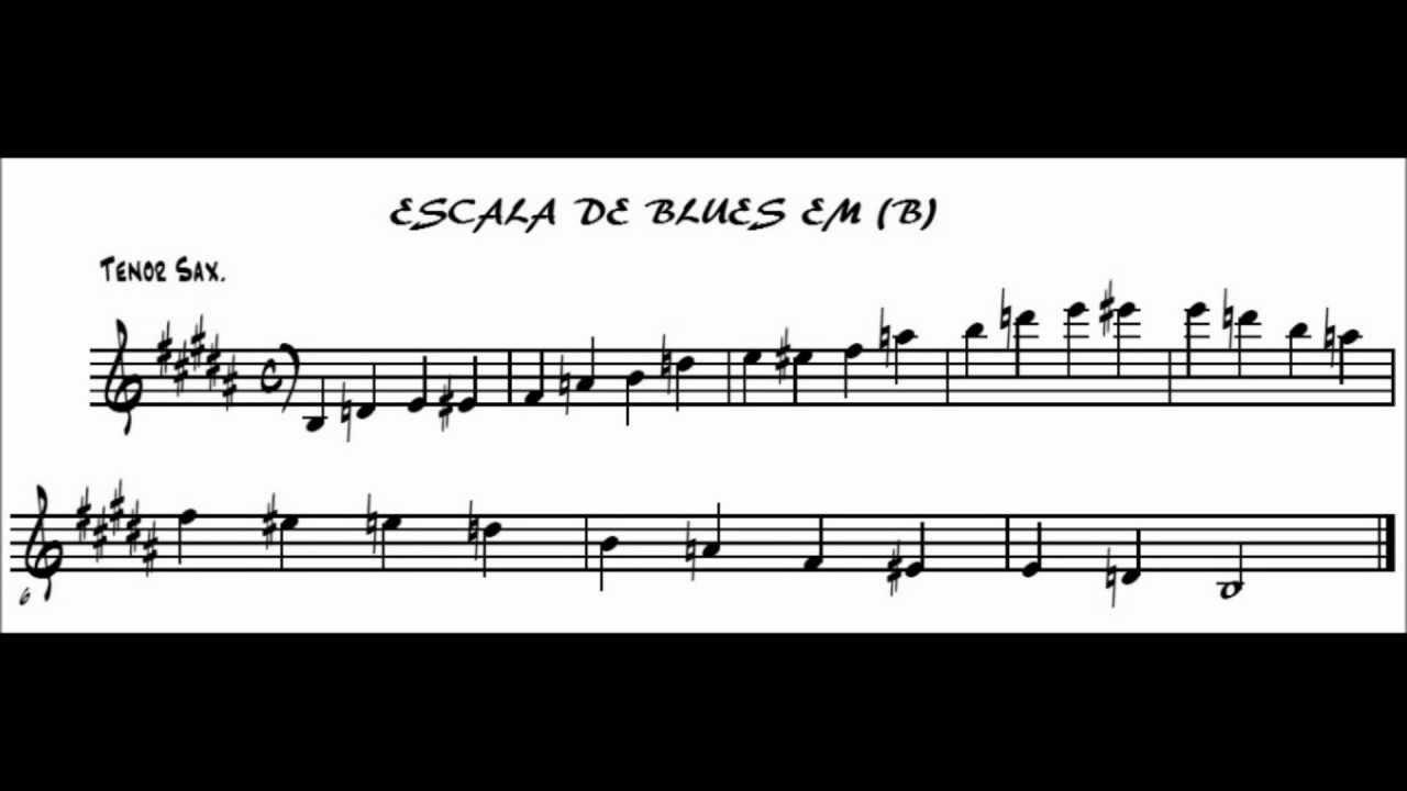 escala de blues b sax tenor jazz e improvisao