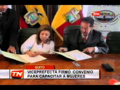 Viceprefecta firmó convenio para capacitar a mujeres