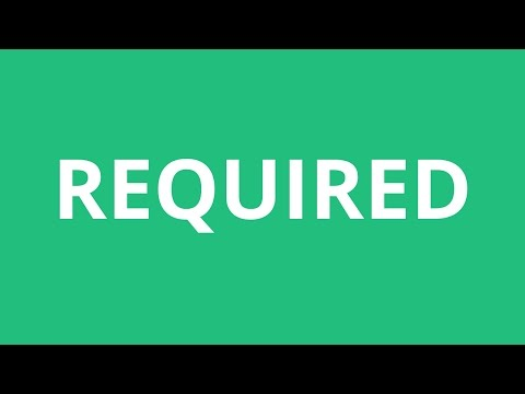 How To Pronounce Required - Pronunciation Academy