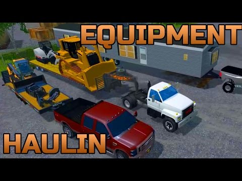 FARMING SIMULATOR 2015 | HAULIN' CONSTRUCTION EQUIPMENT | MOTOCROSS TRACK