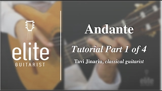 Learn to play Andante by Fernando Sor - EliteGuitarist.com Classical Guitar Tutorial Part 1/3