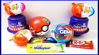 Kinder Joy Surprise Eggs Dairy Milk Lickables Gems Pokemon Ball Chocos And Other Chocolate With Toys thumbnail