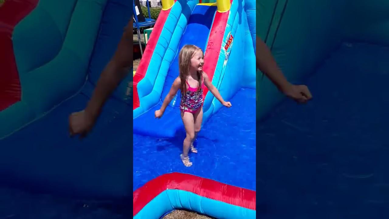 Banzai Splash Blast Water Slide Youtube