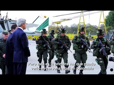 Secretary John Kerry visit to  (colombia DIRAN)