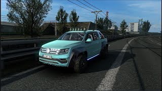 Please Subscribe For More Videos    Details & Download From http://www.modhub.us/euro-truck-simulator-2-mods/volkswagen-amarok-v1r40-1-38/     CHANGELOG Fixed sound on 1.38  Credits: trzpro yellow1441