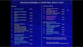 Astronomy for Astrologers Course: 21 Tutorial Videos