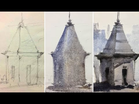 Live watercolor tips | How to paint two-dimensional watercolor painting