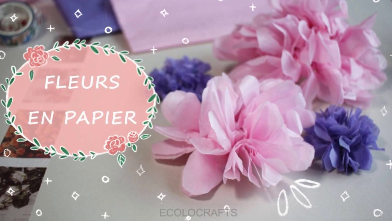 DIY - Comment faire une fleur en papier - YouTube